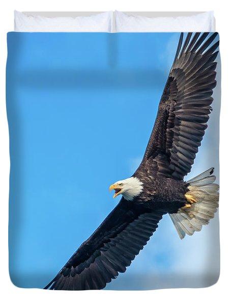 Screaming Eagle #2 Duvet Cover
