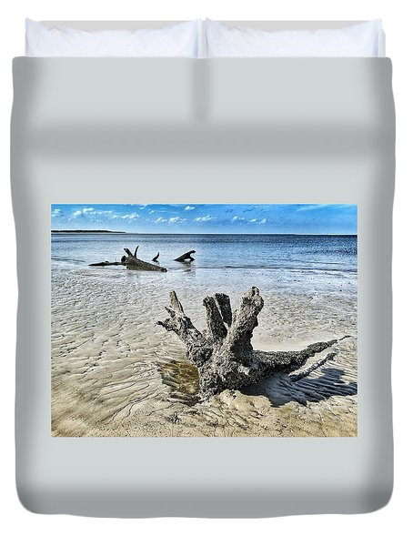 Sculpted By The Sea Duvet Cover