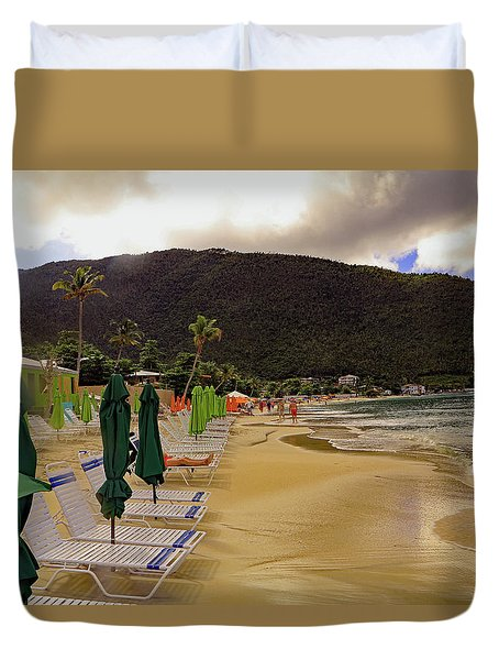Duvet Cover featuring the photograph Sea And Sand by Tony Murtagh