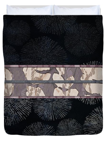 Sea Urchin Contrast Obi Print Duvet Cover