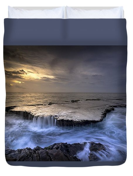 Sea Waterfalls Duvet Cover