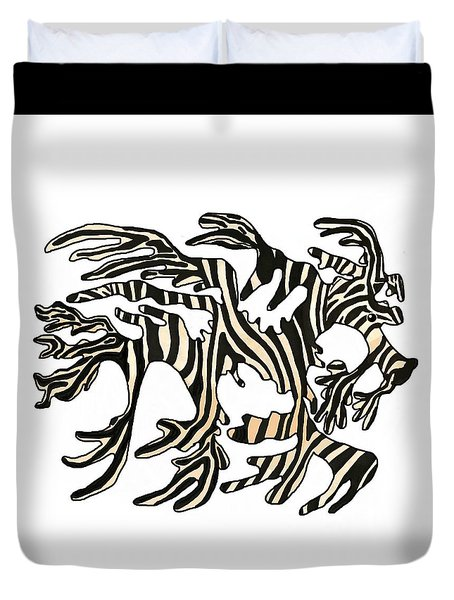 Sea Zebra Dragon 1 Duvet Cover