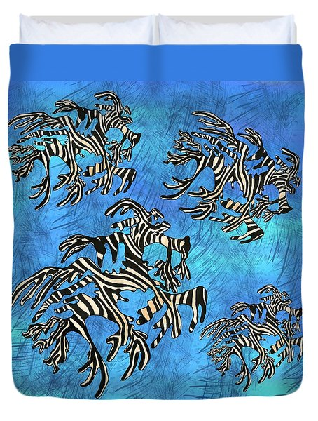 Sea Zebra Dragon 4 Duvet Cover