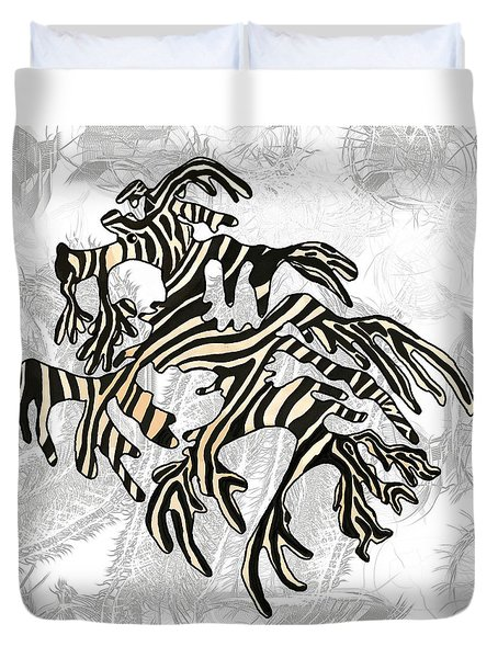 Sea Zebra Dragon 5 Duvet Cover