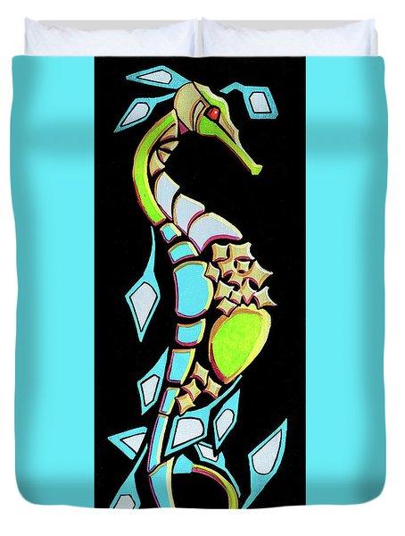 Seadragon Blue Sigh Duvet Cover