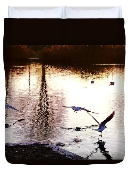 Seagulls In The Morning Duvet Cover