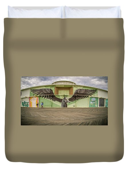 Duvet Cover featuring the photograph Seahorse by Steve Stanger