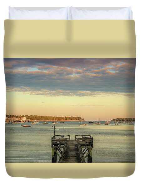 Duvet Cover featuring the photograph Seal Harbor At Low Tide by Dan Sproul