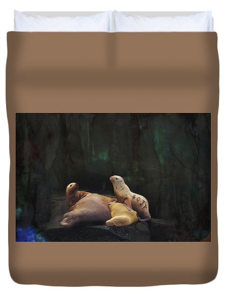 Sealions Duvet Cover