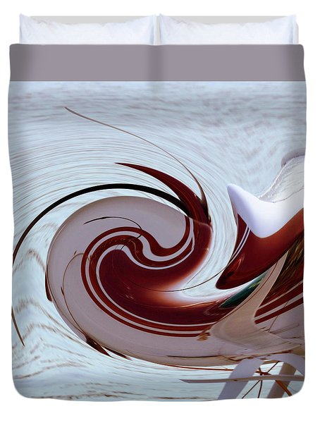 Seaplane Wave Duvet Cover