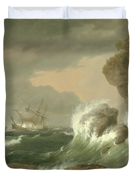Seascape, 1835 Duvet Cover