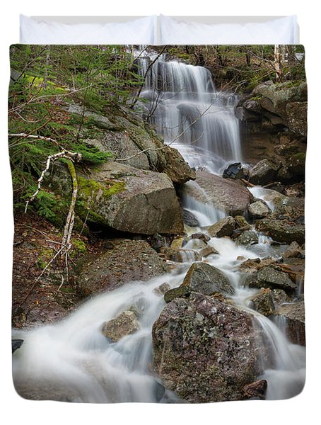 Duvet Cover featuring the photograph Seasonal Waterfall - Franconia Notch, New Hampshire by Erin Paul Donovan
