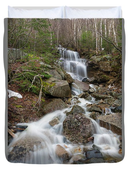 Seasonal Waterfall - Franconia Notch, New Hampshire Duvet Cover