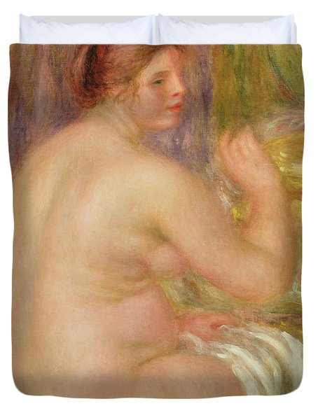 Seated Nude, The Pregnant Woman  Duvet Cover
