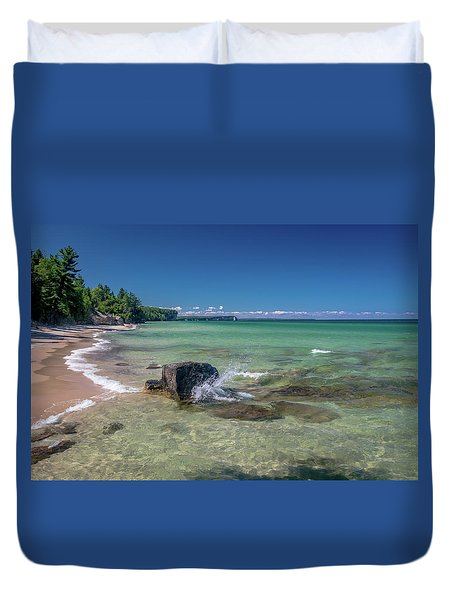 Secluded Beach Duvet Cover