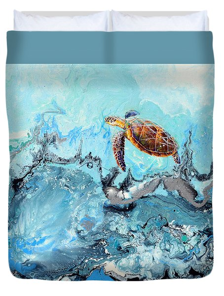 See Turtle Duvet Cover