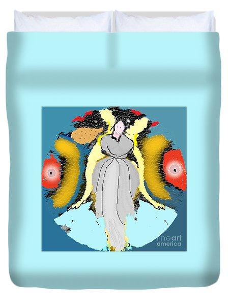 Seeing Angels Duvet Cover