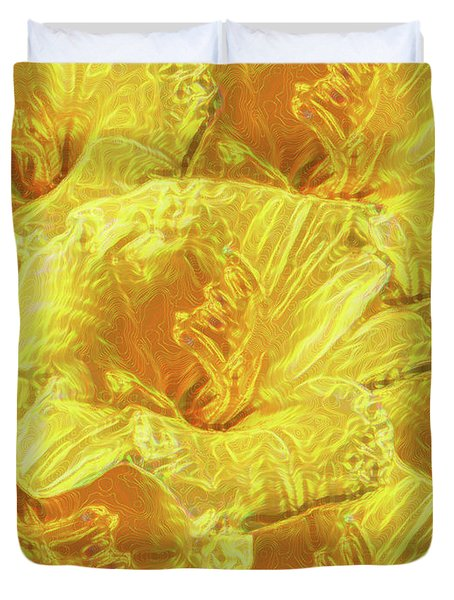 Selective Yellow Lilies Duvet Cover