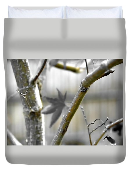 Duvet Cover featuring the photograph Serene Fall by Jerry Sodorff