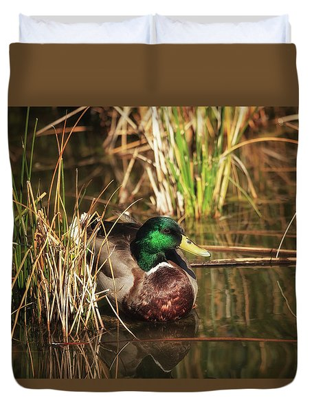Duvet Cover featuring the photograph Serene by Rick Furmanek