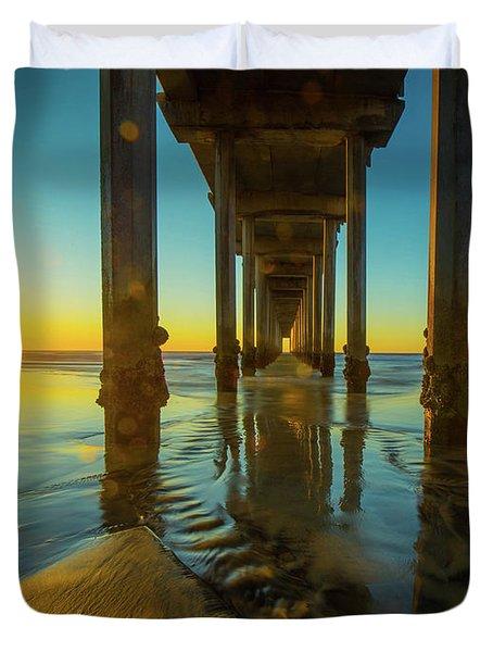 Serenity In San Diego Sunset 2 Duvet Cover