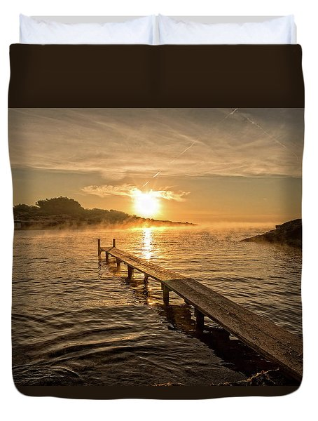 Sespanyol Beach In Ibiza At Sunrise, Balearic Islands Duvet Cover
