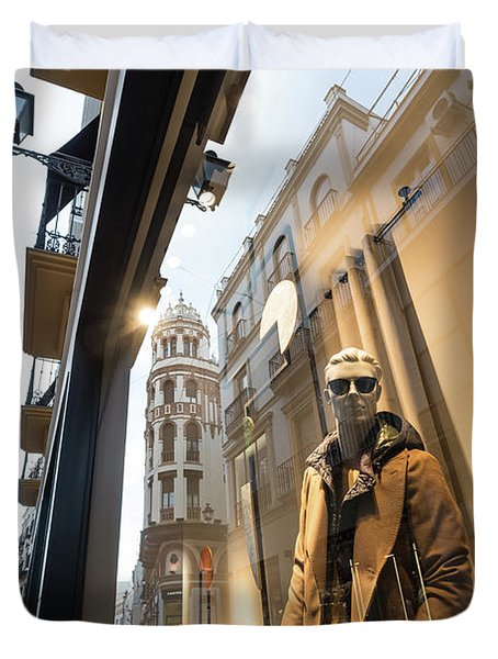 Duvet Cover featuring the photograph Sevilla Streets by Alex Lapidus