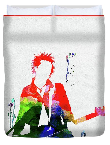 Sex Pistols Watercolor Duvet Cover