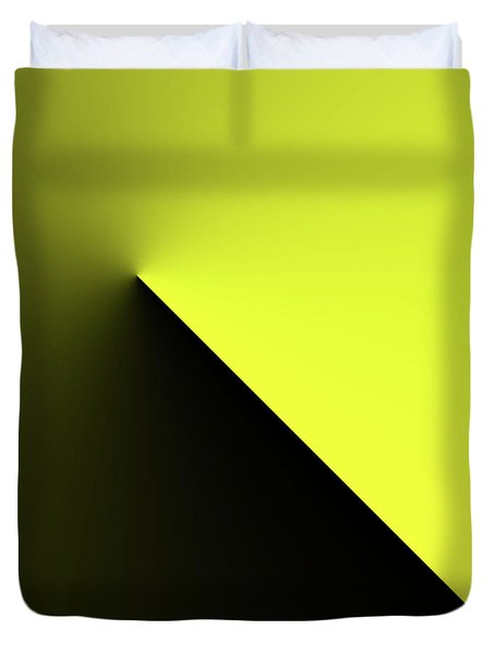 Duvet Cover featuring the digital art Shades Of Yellow In Rotational Gradient by Bill Swartwout Fine Art Photography