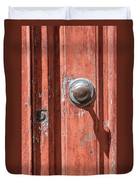 Shadow Door Of Tuscany Duvet Cover