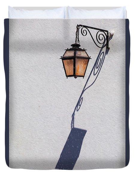 Shadow Lamp Duvet Cover