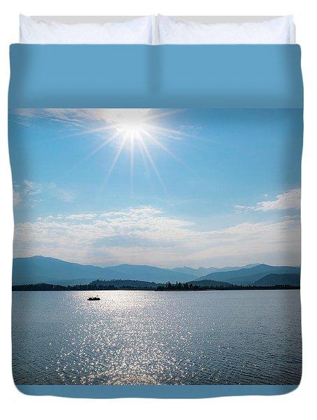 Shadow Mountain Lake Duvet Cover