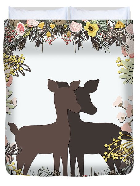 Shadowbox Deer Duvet Cover