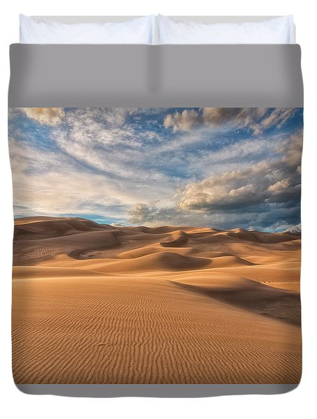 Duvet Cover featuring the photograph Shadowed by Russell Pugh