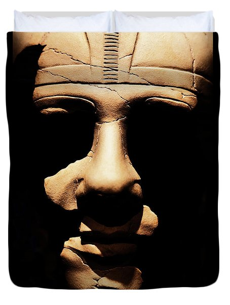 Duvet Cover featuring the photograph Shadows Of Ancient Egypt by Sue Harper