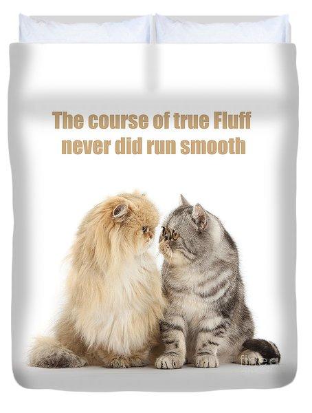 Duvet Cover featuring the photograph Shakespurr Midsummer Cats Dream by Warren Photographic