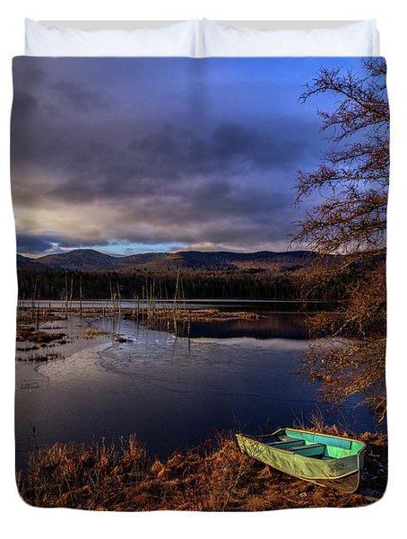 Shaw Pond Sunrise - Landscape Duvet Cover