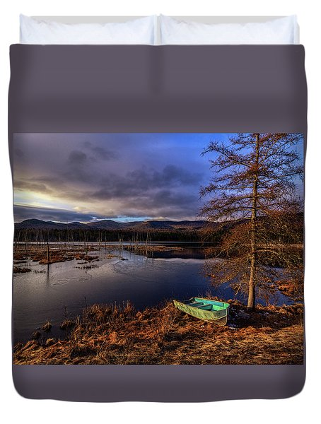 Shaw Pond Sunrise - Landscape Duvet Cover