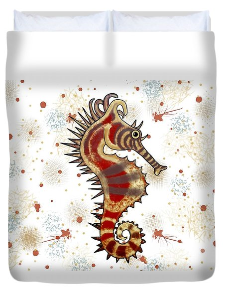 Shehorse Digital Addition4 Duvet Cover