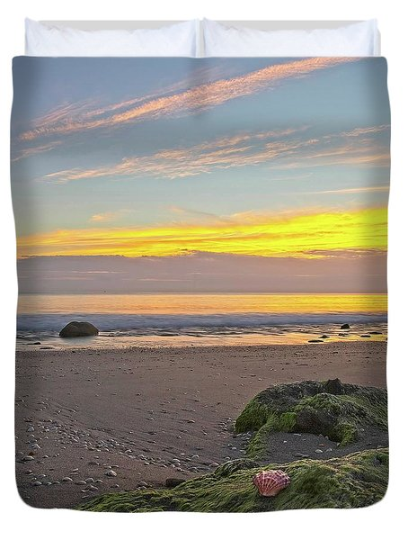 Shells On The Beach 2 Duvet Cover
