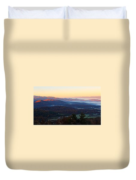 Duvet Cover featuring the photograph Shenandoah Mountains by Candice Trimble