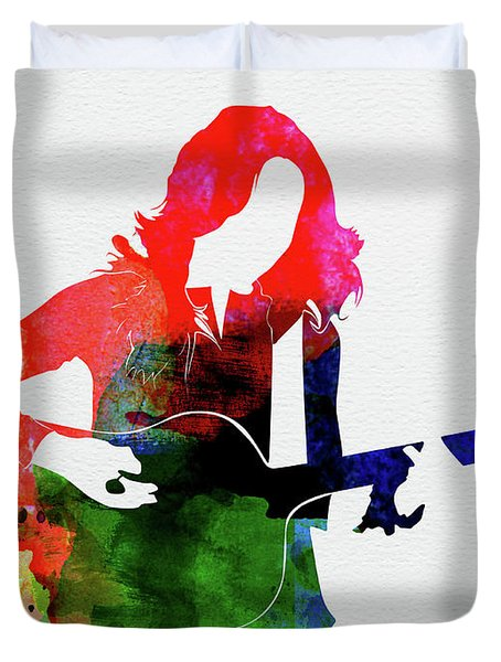 Sheryl Crow Watercolor Duvet Cover