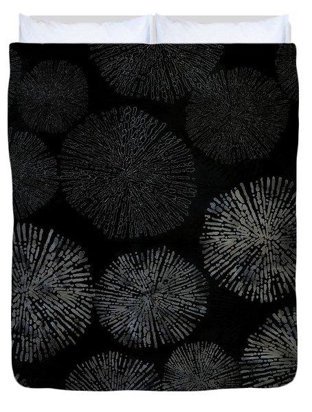 Shibori Sea Urchin Burst Pattern Duvet Cover