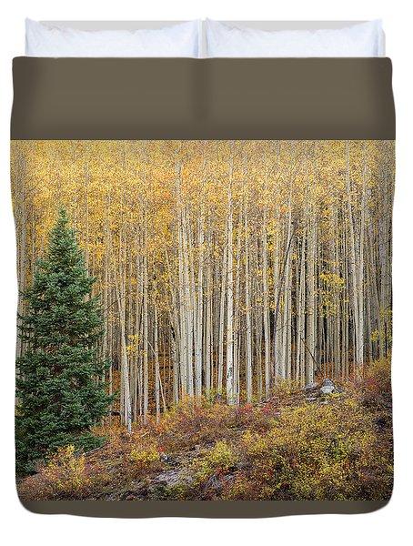 Shimmering Aspens Duvet Cover