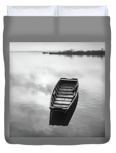 Duvet Cover featuring the photograph Shine On You Crazy Diamond by Davor Zerjav