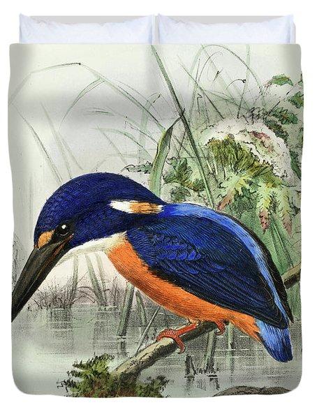 Shining-blue Kingfisher Duvet Cover