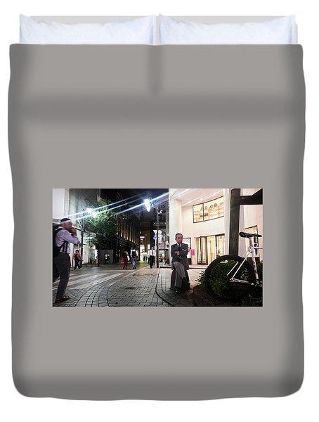 Shinjuku Man Duvet Cover