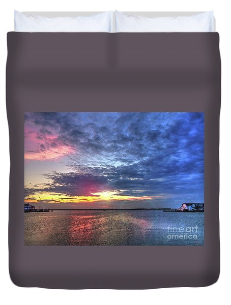 Ship Bottom Sunset Duvet Cover