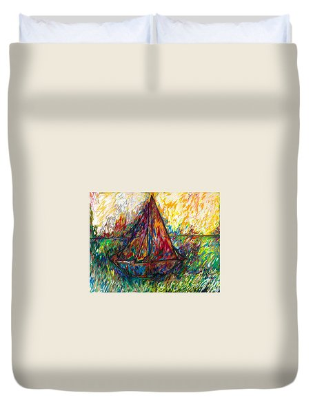 Ship In Color Duvet Cover