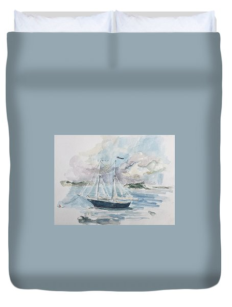 Ship Sketch Duvet Cover
